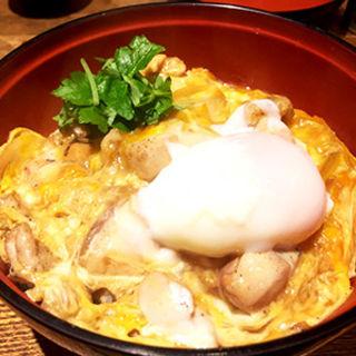 近江鶏炭焼き親子丼(はっさく )