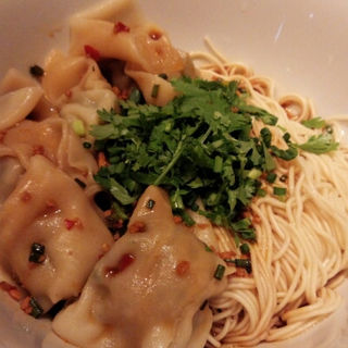 ワンタンのチリソース和え麺(パラダイスダイナシティ)