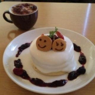 ヨーグルトクリームミックスベリードリンクセット(パンケーキデイズ 原宿店 )