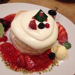 ジャージークリームのパンケーキ