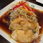 蒸し魚の煮つけ(タイ醤油味)