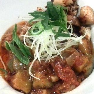 茄子とトマトのピリ辛まぜ麺(ビアビア (Bia Bia))