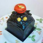 マカロンのチョコレートケーキ