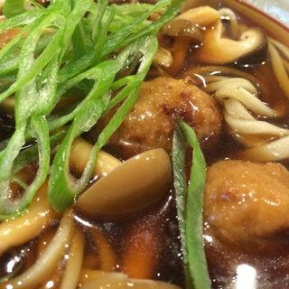 鶏の肉団子ときのこのあんかけ蕎麦(ひさご)