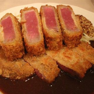 牛ロースのレアカツレツ 特性デミグラスソース(びすとろ UOKIN ボンポテ )