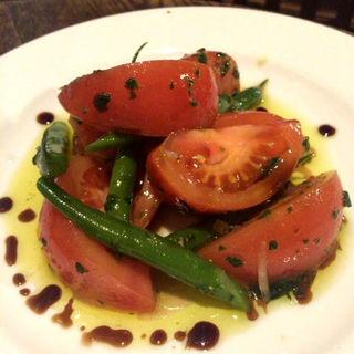 隠元とトマトのサラダ(ビストロ アリゴ )