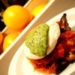 季節野菜のラタトゥイウ ポーチドエッグとグリーンマヨネーズ