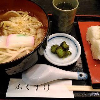 三食うどんとおむすびのセット(ふくすけ亭 )