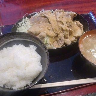 しょうが焼きライス(ぶたまる食堂 元吉田店 )