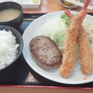 海老フライ&ハンバーグ(フライ工房 妙樹 (しょうき))
