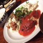 ハンバーグステーキ(トマトソース)&チキン南蛮定食