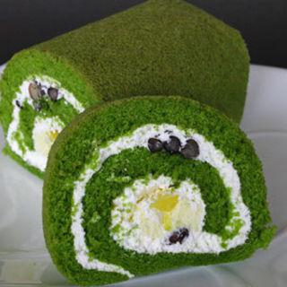 抹茶のロールケーキ(まざあぐうす )