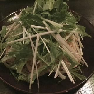 ツナと水菜のペペロンチーノ