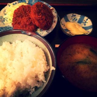 日替り定食 コロッケサラダ(まるけん食堂 )