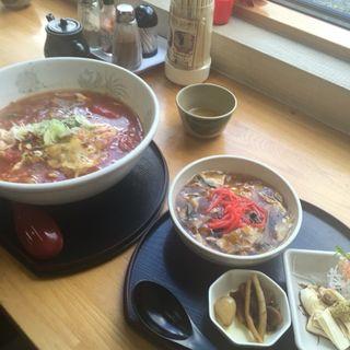 ゆば丼トマトラーメン定食(まるひで食堂 )