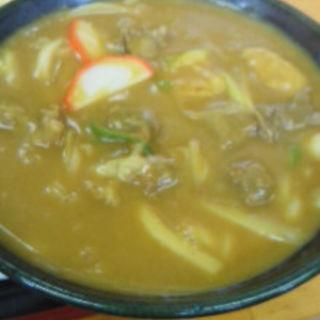 牛すじカレーうどん定食(まるへいうどん )