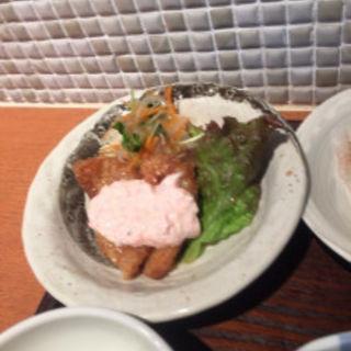 白身魚の南蛮フライ・梅タルタルソース(マルワ食堂)