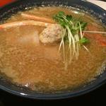 ズワイとワタリの蟹のつけ麺