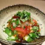 帆立・おくら・トマトのポン酢ジュレ