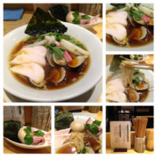 特製鶏・煮干・蛤SOBA(むぎとオリーブ 銀座店)