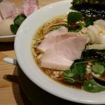 特製鶏・煮干・蛤のトリプルSOBA(むぎとオリーブ 銀座店)
