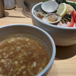 鶏と蛤の濃厚つけ麺(むぎとオリーブ 銀座店)