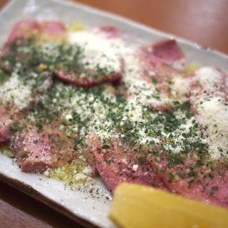 上カシラカルパッチョ(もつ千 神田西口店)