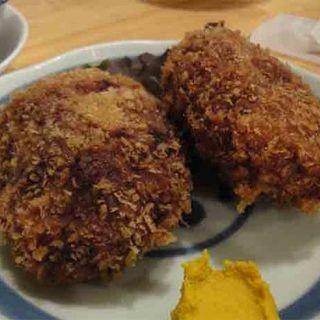 牛肉メンチカツ(もつ焼き 肉の佐藤)