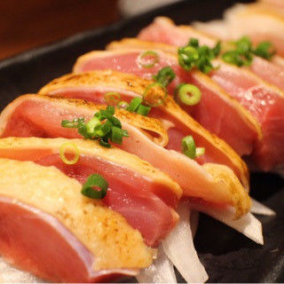 宮崎県産 鶏もものたたき 2人前(もつ鍋専門店 東十条 (もつなべせんもんてん ひがしじゅうじょう))