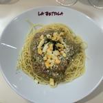 トラバーニ風フレッシュトマトのバジリコのスパゲッティ