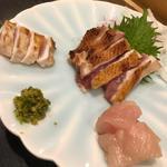さつま地鶏のたたき(焼き鳥 松元 西中洲本店)