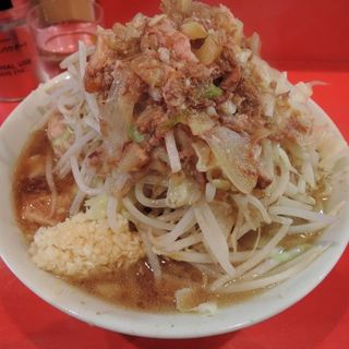 小ラーメン(ニンニク、アブラ、 カラメ)+チーズ(ラーメン二郎 府中店 (らーめんじろう))