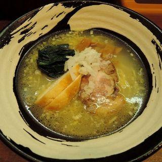 塩らーめん+甲斐路軍鶏叉焼(らーめん屋 小川 )