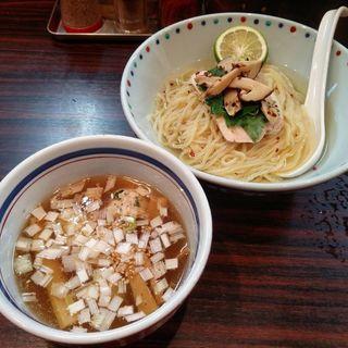 松茸と若鶏の白だしつけ麺(らー麺 あけどや )