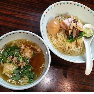 松茸白だしつけ麺+味玉 ※限定(らー麺 あけどや )