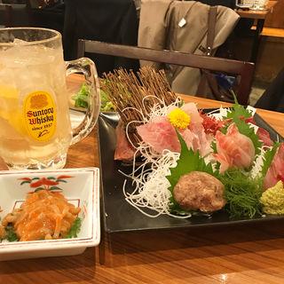 地魚5種盛り(山傳丸 海浜幕張店 (やまでんまる))