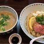 鴨白湯つけ麺(5月前半限定)