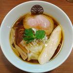 鶏醤油らぁ麺+自家製ワンタン(3個)