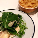 有機ジャンボマッシュルームとルッコラのサラダ