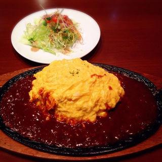 オムライス サラダセット(レストラン シロ )