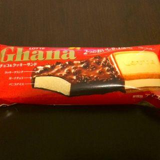ガーナ チョコ&クッキーサンドアイス(ロッテ)