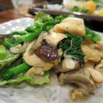ミル貝と菜の花のバターソテー