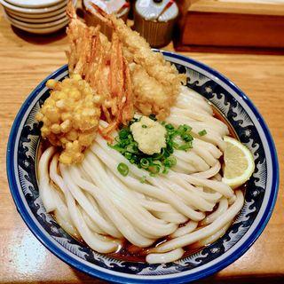 海老天ぶっかけ(釜たけ流 うめだ製麺所 )