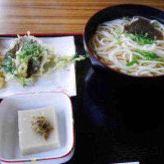 葛うどん天ぷら定食(一休庵 )
