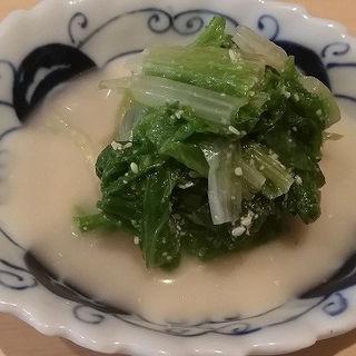 しんとり菜のお浸し(三合菴 (さんごうあん))