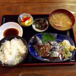 青魚 刺身定食