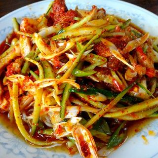 冷やしネギ叉焼麺(三越園 )