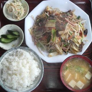 野菜炒め定食(両国ラーメン )