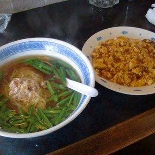 台湾ラーメン+麻婆飯(中国料理 得月楼 )