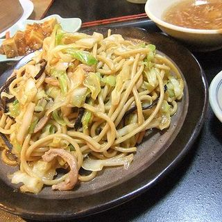 炒麺定食 柔らかい焼きそば(中国料理 福林楼)